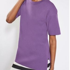 Topshop Oversized Thick Purple Knit Tee Size 6